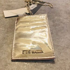 Steve Madden Silver Wallet on Neckchain